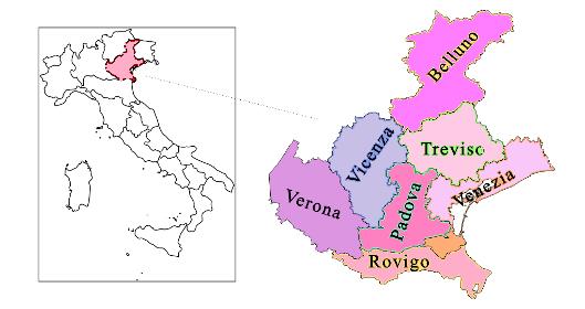 mappa veneto regione land of venice discover veneto smile